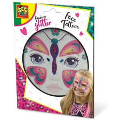 Temporary Glitter Face Tattoos - Butterfly
