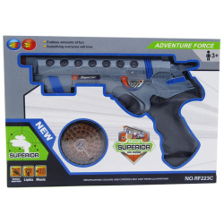 Battery Operated Gun with Lights & Music