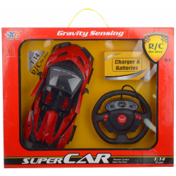 Gravity Sensing Super Car R/C 1:14 With Remote Control - Red