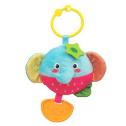 2 in 1 Rattle and Teether - Elephant