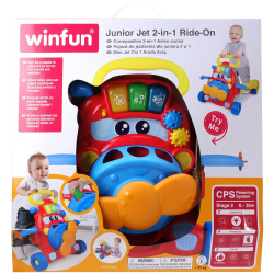 2-in-1 Walker Ride-On with Lights and Colorful Sorter Blocks