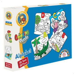 Coloring Puzzle Alphabet - 52 Pcs