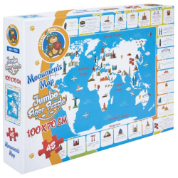 Jumbo Floor Puzzle Monuments Map - 48 Pcs
