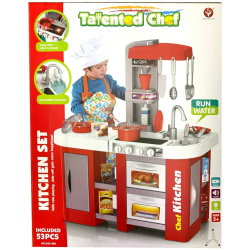 Red Talented Chef Kitchen with Lights & Sounds - 53 Pcs