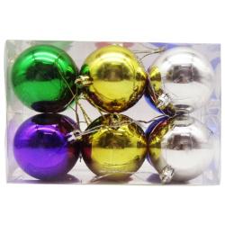 Multi-Color Christmas Balls - 6 cm