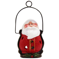 Santa Claus Lantern with Candle