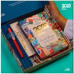 2021 Agenda Gift Box - Travel Stamps