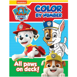 All Paws On Deck Coloring Book By Numbers - Paw Patrol