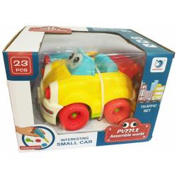 Puzzle Assemble World - Interesting Small Car 23 Pcs