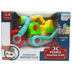 Puzzle Assemble World - Motorcycle 24 Pcs