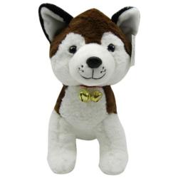 Husky Dog 30 Cm - Brown