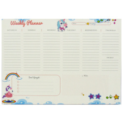 Weekly Planner A4 - Unicorn