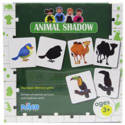 Educational Cards - Animal Shadow - 48 Pcs