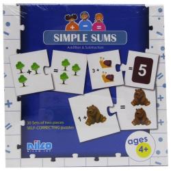 Educational Cards - Simple Sums 60 Pcs