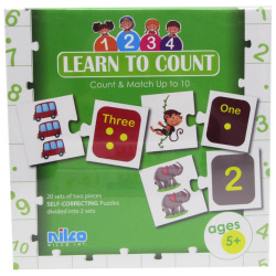 Educational Cards - Learn To Count - 40 Pcs