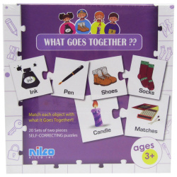 Educational Cards - What Goes Together ? - 40 Pcs