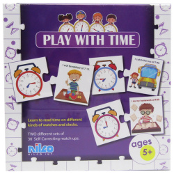 Educational Cards - Play With Time - 60 Pcs