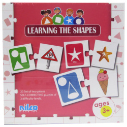 Educational Cards - Learning The Shapes - 40 Pcs