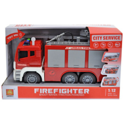 City Service 1:12 with Lights & Sounds - Fire Fighter Truck