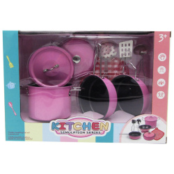 Stainless Steel Kitchenware Set - Pink