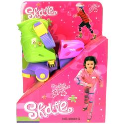 3 Wheels Skate Set For Girls