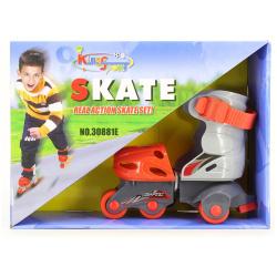 3 Wheels Skate Set For Boys