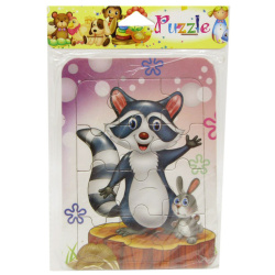 Mini Cartoon Puzzle - Raccoon