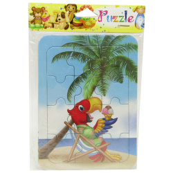 Mini Cartoon Puzzle - Parrot