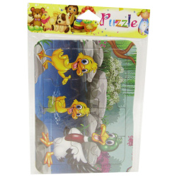 Mini Cartoon Puzzle - Family Ducks