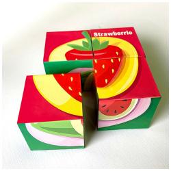 Plastic Cubes Puzzle - Fruits