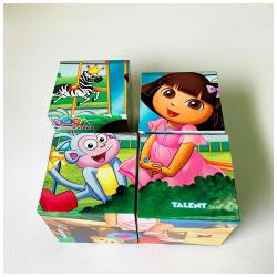 Plastic Cubes Puzzle - Dora With Friends