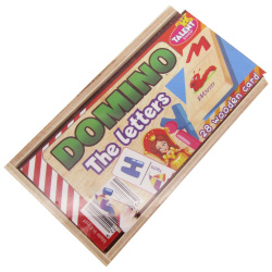 Educational Wooden Dominoes - The Letters