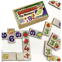 Educational Wooden Dominoes - The Numbers