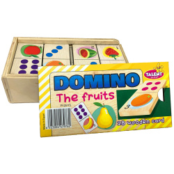 Educational Wooden Dominoes - The Fruits