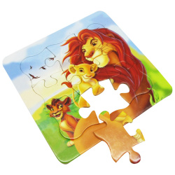 Cartoon Puzzle Board - The Lion King