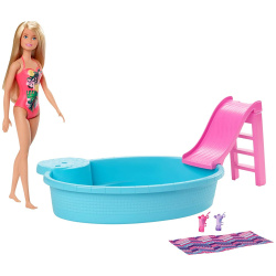Barbie Poolm With Doll