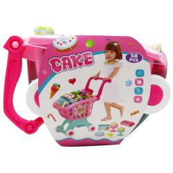 Supermarket Cart Cake - 58 PCs