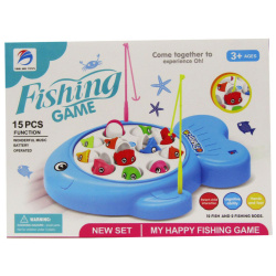 Fishing Game With Music - 15 Pcs