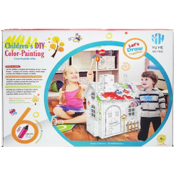 Children Diy Color-Painting Countryside Villa
