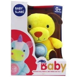 Soft Plush Goodnight Lullaby - Yellow Dog