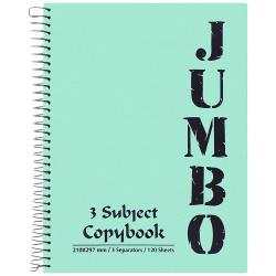 A4 Jumbo Note Book 3 Subject - 120 Sheet