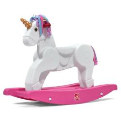 Unicorn Rocking Horse - White & Pink