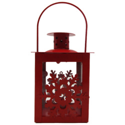 Metal Lantern With Candle Holder - Snow - Random Color