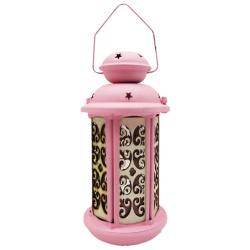 Metal Lantern - Pink