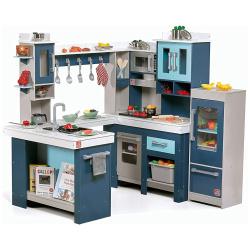 Walk-In Wooden Play Kitchen - Blue