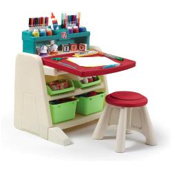 Flip & Doodle Desk with Stool Easel