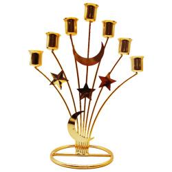 Ramadan Gold Metal Candlestick - 7Candles