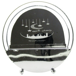 Round Metal Decor with Light - Silver