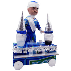 Ramadan Decoration - licorice Car With Light And Sound - Blue