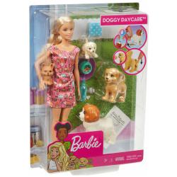 Barbie Doggy Daycare Doll - 4 Pets